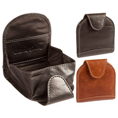 Black Charles Smith Leather Tray Coin Purse - 650301CO