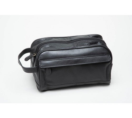 Charles Smith BLACK Leather Wash Bag - 671013WB