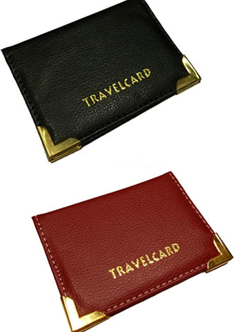 Leather Travel Card Holder - Various Colours