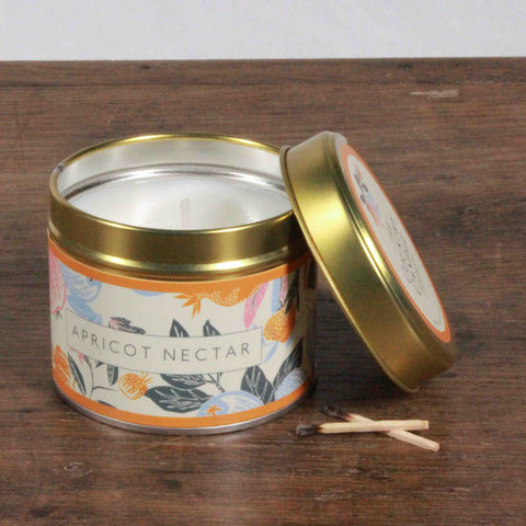 Fragrant Orchard Apricot Nectar Gold Tin Candle