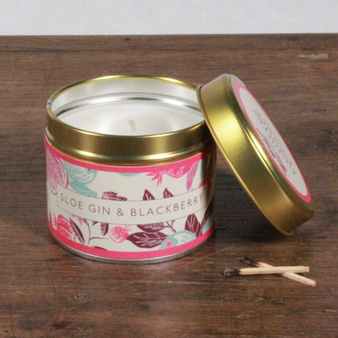 Fragrant Orchard Sloe Gin & Blackberry Gold Tin Candle