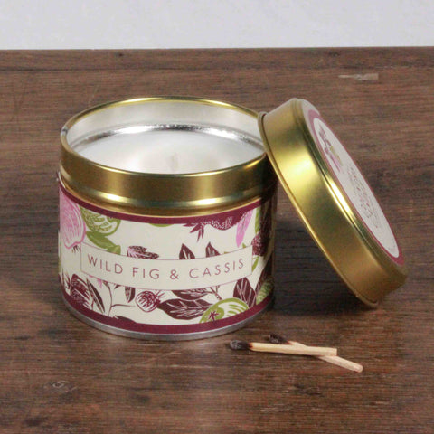 Fragrant Orchard Wild Fig & Cassis Gold Tin Candle