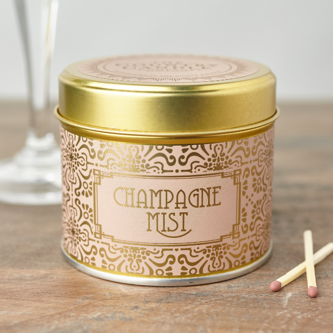 Happy Hour Champagne Mist Candle in a Tin