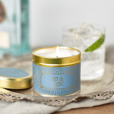 Happy Hour Gin & Tonic Candle in a Tin