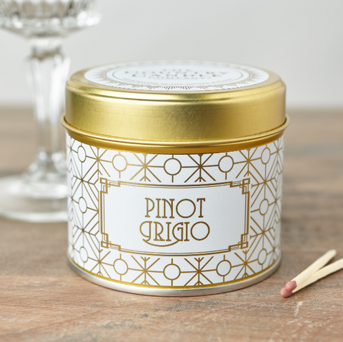 Happy Hour Pinot Grigio Candle in a Tin