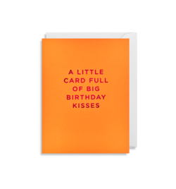 Lagom Design Mini Card - A Little Card Full Of Big Birthday Kisses