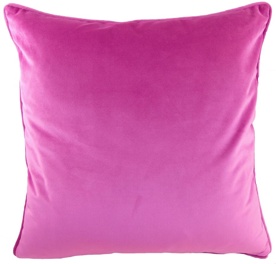 Royal Velvet Cushion Square - Fuchsia