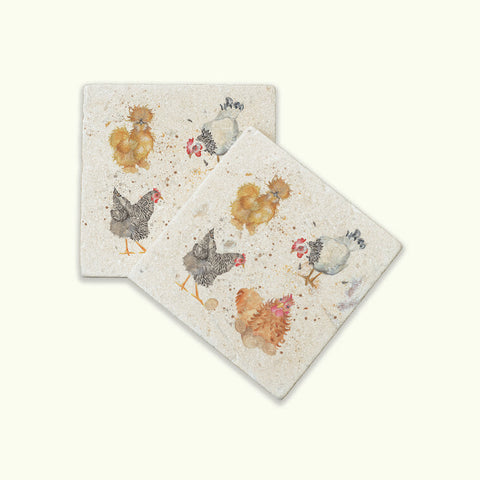 Kate of Kensington The British Collection: Hens Coasters