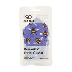 Reusable washable Face Mask Blue Bees