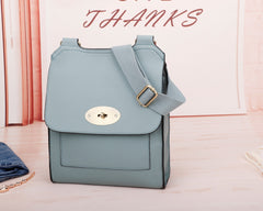 Medium Across Body Bag Egg Blue
