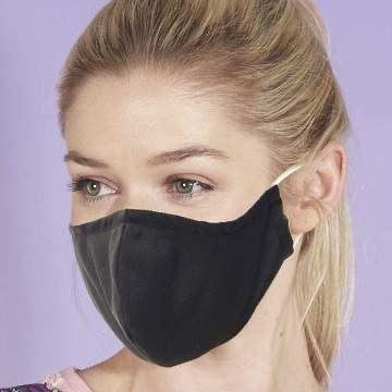 Reusable washable Face Mask plain Black