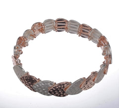 Bracelet - Overlapping Hearts Rose Gold & Silver