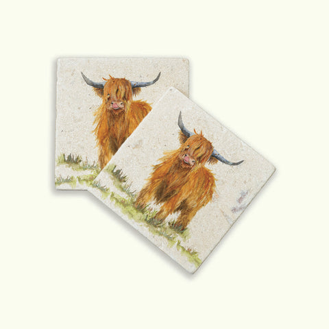 Kate of Kensington Collection: Highland Cow Coasters