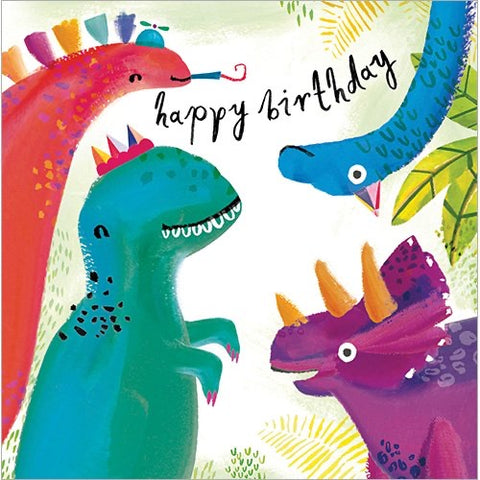 Happy Birthday Dinosaur Greeting Card