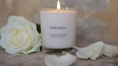 Box Candle Company - White Rose Candle