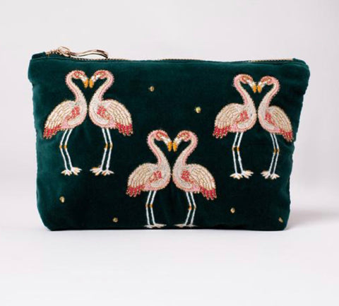 Elizabeth Scarlett Flamingo Makeup Bag