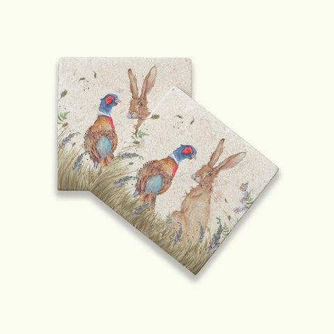 Kate of Kensington Country Champions: Pheasant and Hare Coasters