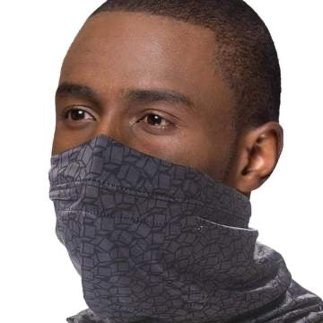 Reusable washable Face SNOOD Black Disrupted Cubes