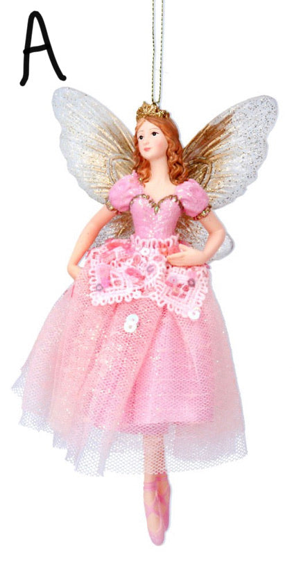 Resin Fairy (15cm) - Pink/Princess w Fabric