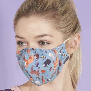 Reusable washable Face Mask Woodland Animal