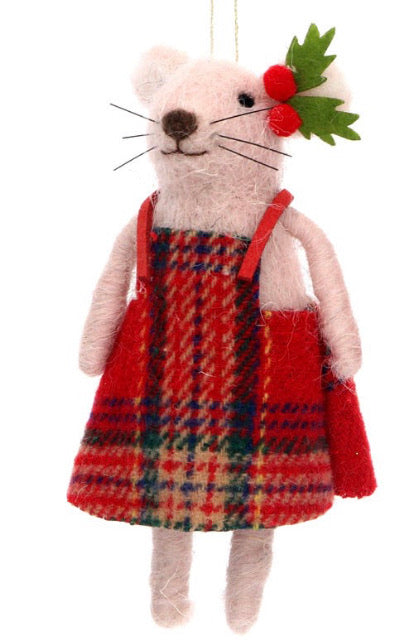 Mr/Mrs Dressed Mouse - Wool Mix Dec (12cm)