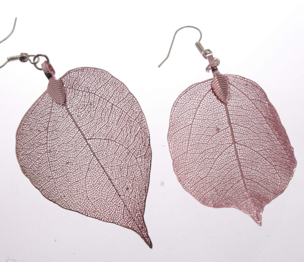 Earrings - Pink Leaf Earrings