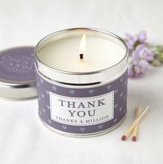 Thank You Candle in a Tin
