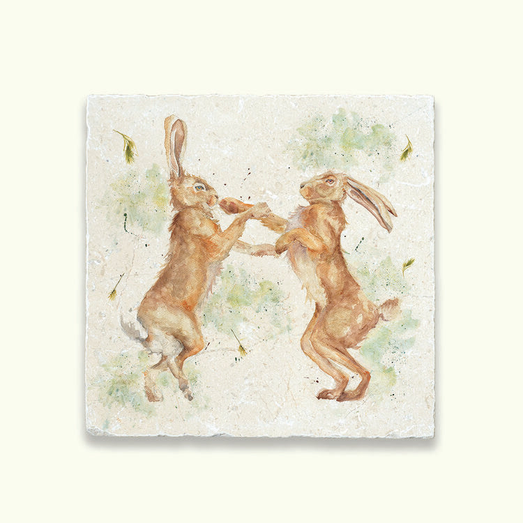 Kate of Kensington Collection: Boxing Hares Large Platter