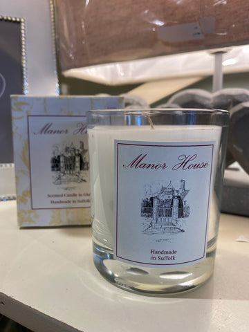 Manor House scented candle in glass - Rose