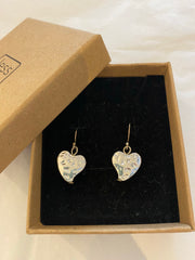 Earrings - Love Island Heart Earrings Silver