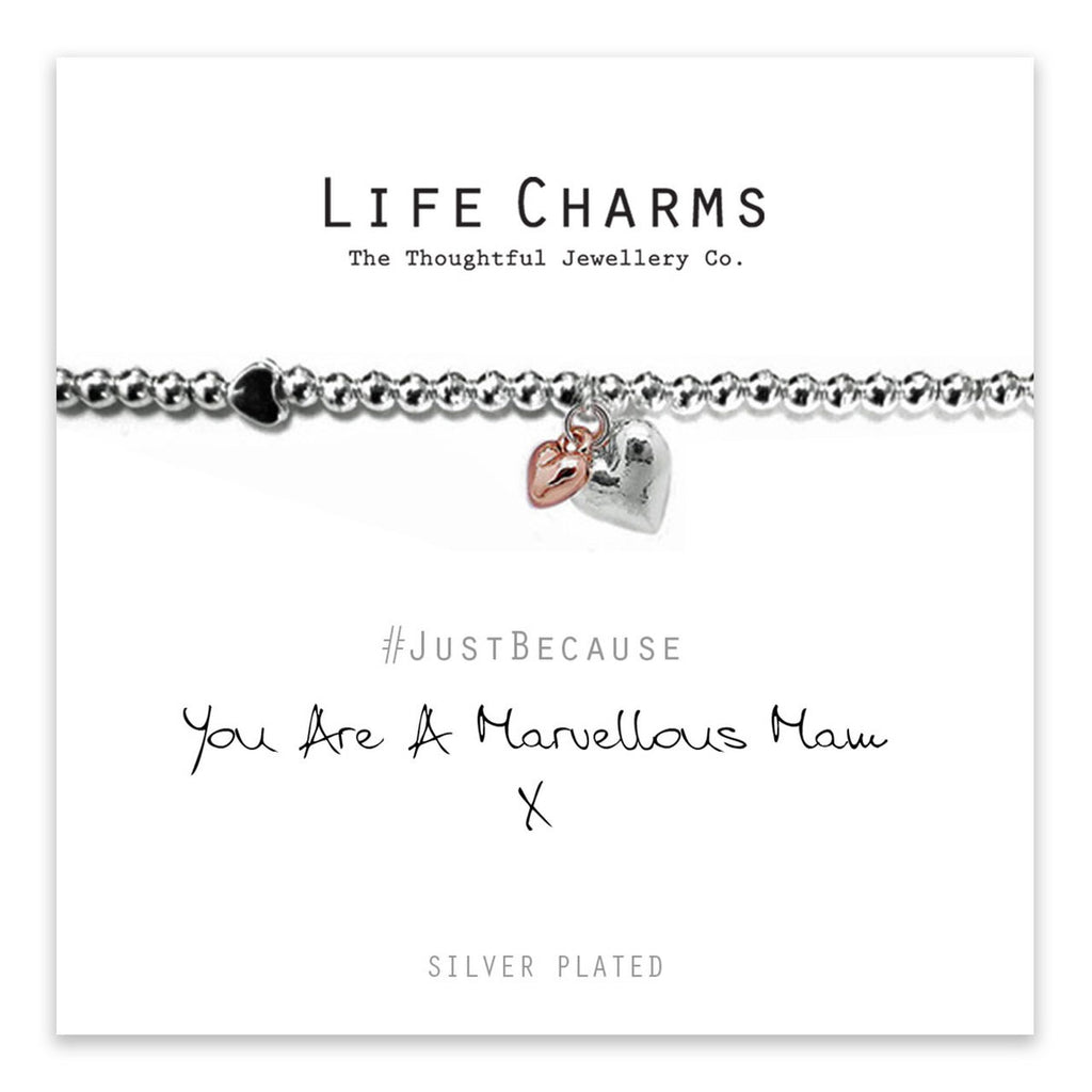 Beautiful silver plated  Mum bracelet