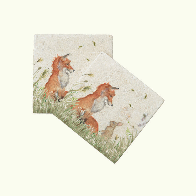 Kate of Kensington Country Champions: Fox and Rabbit coasters