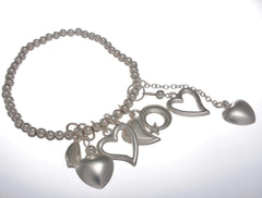Bracelet with Cascading Hearts