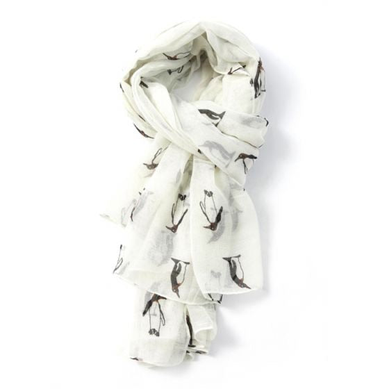 Penguin Scarf Cream