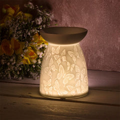 Wax Oil Warmer Butterfly White