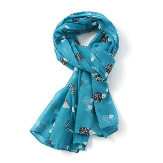 Hedgehog Scarf Turquoise