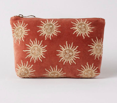 Elizabeth Scarlett Rust Sun Makeup Bag