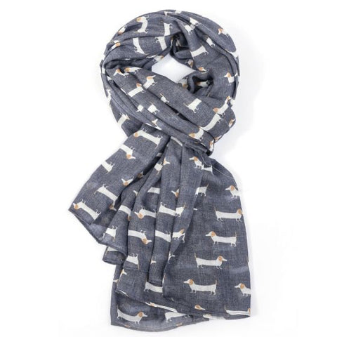 Dachshunds Scarf Charcoal