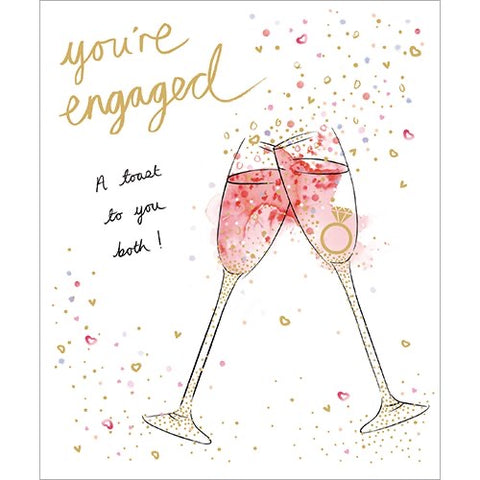 You're Engaged A Toast to you Both! Greeting Card