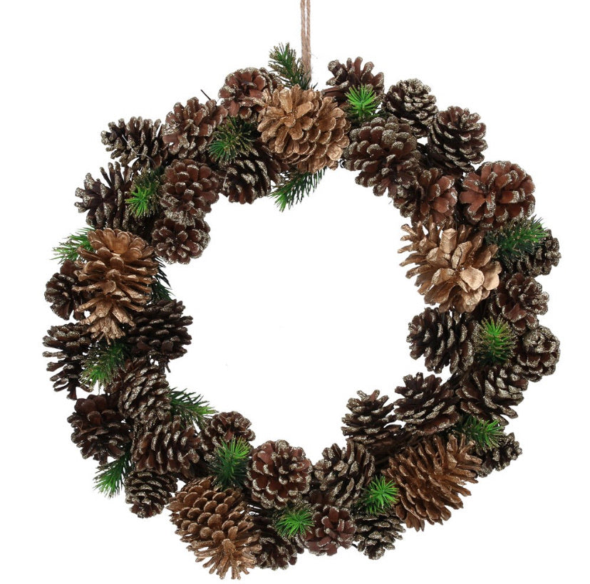Wreath 40cm - Natural Cones w Fir Sprigs