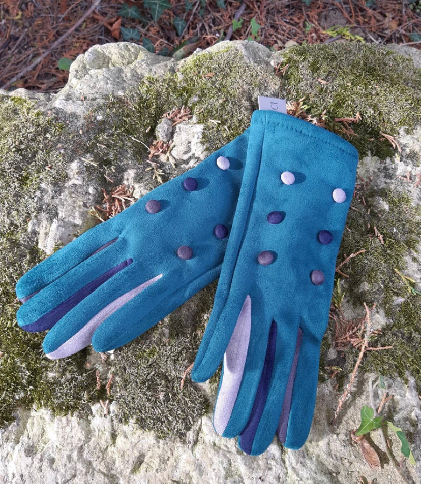 Vera T Tucci Boxed Gloves - 6 Button Teal