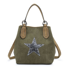 Star Bag Medium Green