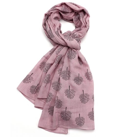 New Spring Season Scarf - Pink Mulberry Tree