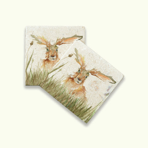 Kate of Kensington Collection: Family A Hare Coasters