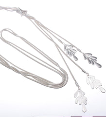 Long Cascading Leaves Necklace
