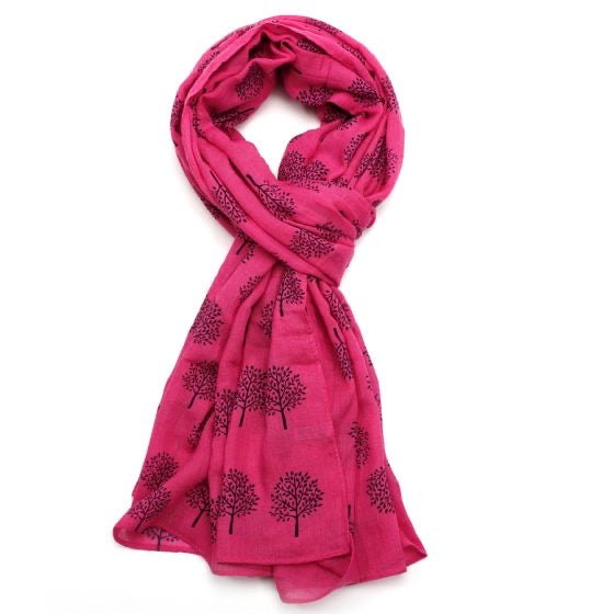 New Spring Season Scarf - Fuchsia Mulberry Tree