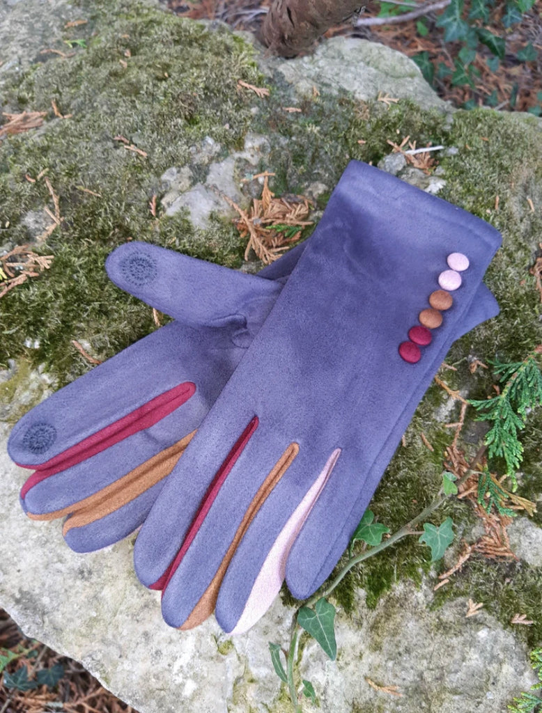 Vera T Tucci Boxed Gloves - Grey
