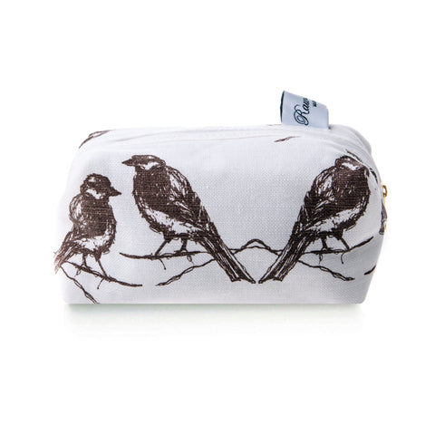 Boxed Cosmetic Bag Range - Bird Print