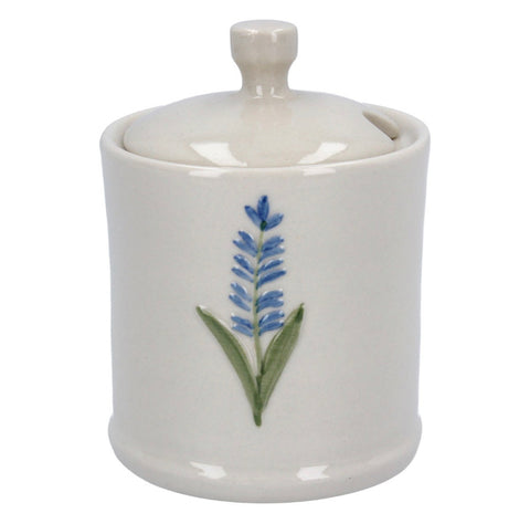Gisela Graham Ceramic Mini Honey Pot - Lavender