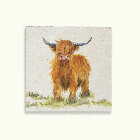 Kate of Kensington Collection: Highland Cow Medium Platter